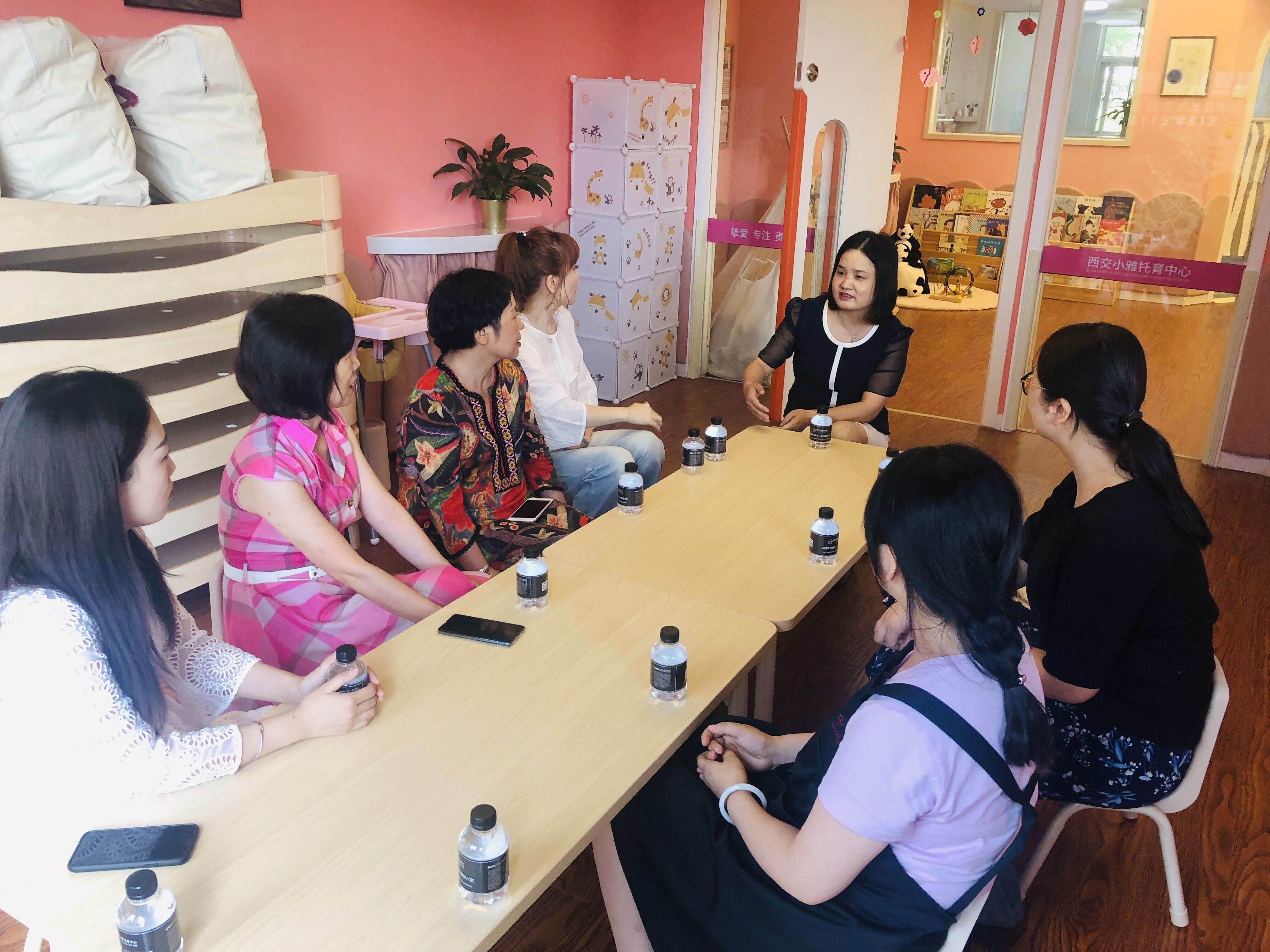 省妇联直属单位幼儿园园长到bwin下载地址社区托幼服务中心调研学习交流